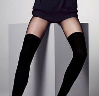 Veneziana Chloe 60 Denier Black Ribbed Tights